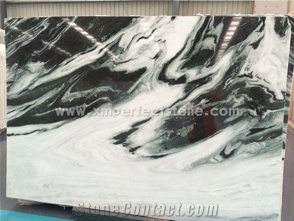 cheapest panda white marble tile slab