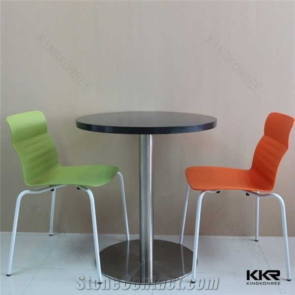 custom restaurant tables and chairs chair cover rental brooklyn solid surface artificial stone french coffee dining furniture vintage industrial round black fast food for sale