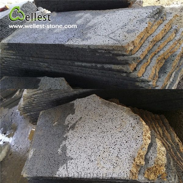 natural volcanic rock stone tile wall