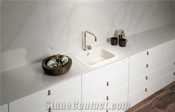 ceramic kitchen top white cart beautiful in silestone calacatta gold and a sink integrity