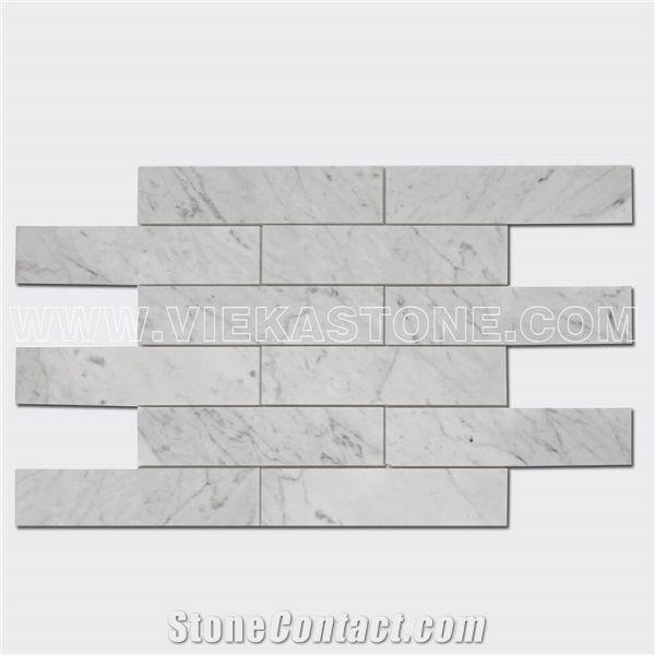 bianco carrara white marble mosaic tile