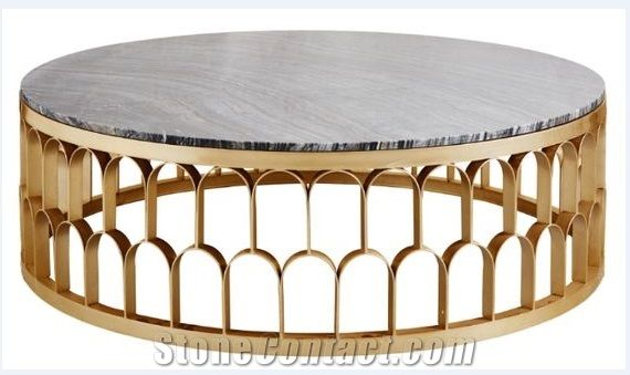 Modern Marble and Wrought Iron Dinner Table,Restaurant