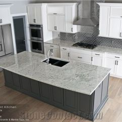 Kitchen Island Top Tile Flooring Ideas Colonial White Granite Eased Edge 3cm Perimeter Countertop