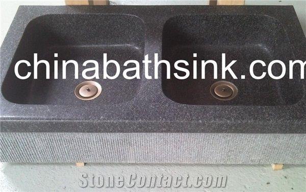 black granite kitchen sink stone