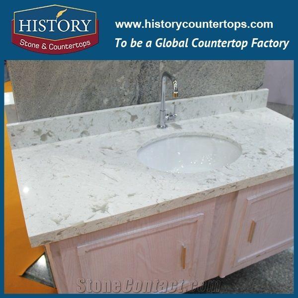 Xiemen New Design Modern White Black Quartz Bathroom Countertops With Cabinet Vanity 2017 Hot Sale Double Bowl Bathroom Vanity Tops From China Stonecontact Com