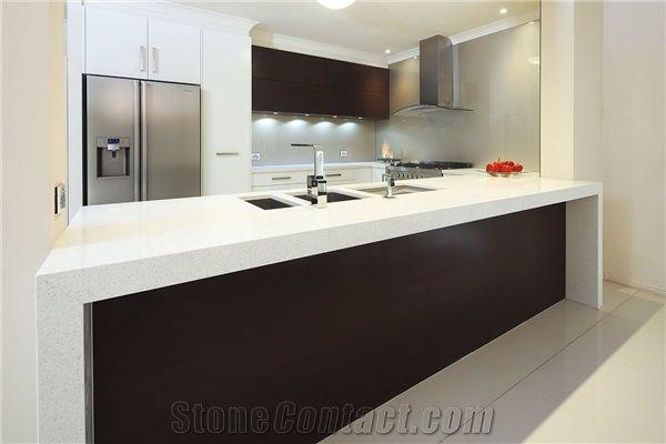 white kitchen bench ikea cabinets reviews trendstone quartz stellar tops from australia