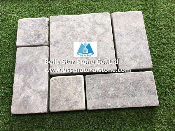 blue limestone pavers light grey floor