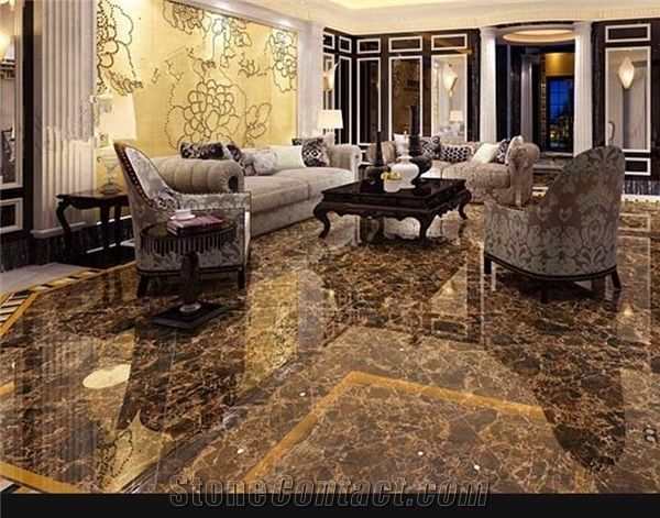 brown marble tiles slabs for hotel