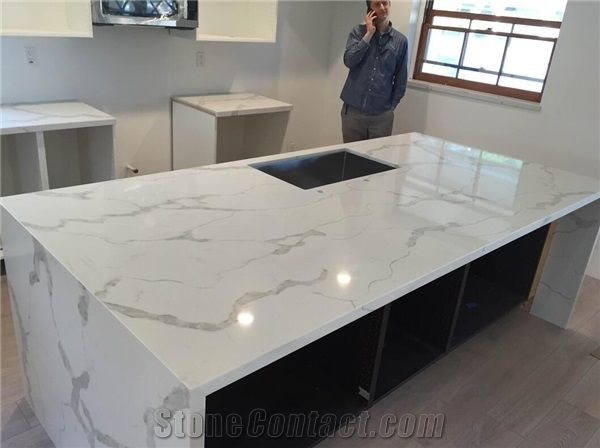 grey kitchen countertops drop leaf island biaco calacatta white quartz worktops bar top