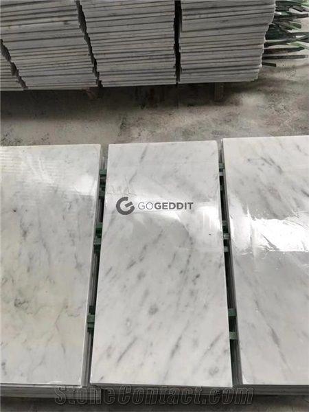 carrara white honed 3x6 marble subway