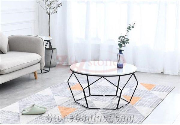 calacatta carrara marble tea table