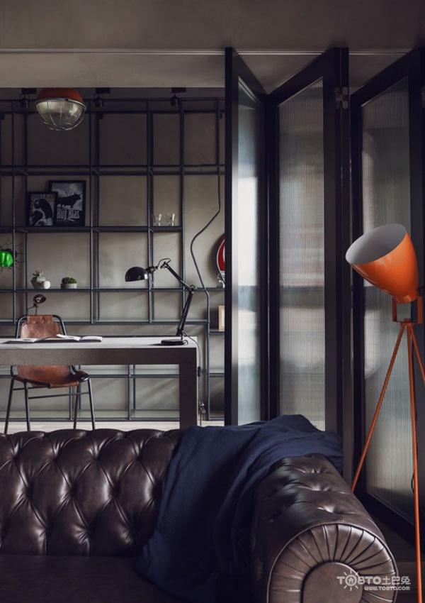 metal kitchen table sets cabinets san diego 工业风单身公寓_单身公寓装修 - 土巴兔装修效果图