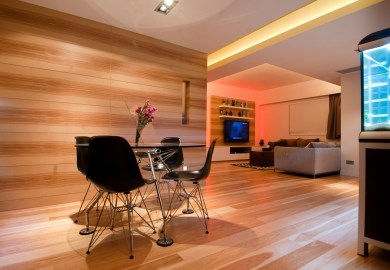 Luxury Living Room In Apartment Hong Kong Interior Design