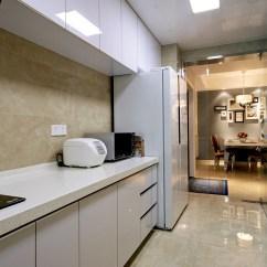 Pictures For Kitchen Wall White Stools 一字型整体厨房装修效果图欣赏_土巴兔装修效果图
