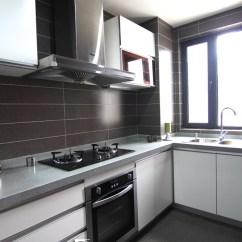 Grey Kitchen Tile Commercial Equipment Prices 小户型厨房台面设计_土巴兔装修效果图
