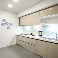Colors For Kitchens How To Resurface Kitchen Cabinets 一字型厨房整体橱柜效果图片_土巴兔装修效果图