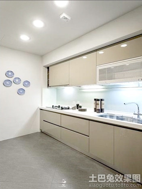 kitchen cabinet door countertops cost 一字型厨房整体橱柜效果图片_土巴兔装修效果图