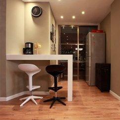 Kitchen Black Cabinets Step Stool 家用小吧台装修效果图_土巴兔装修效果图