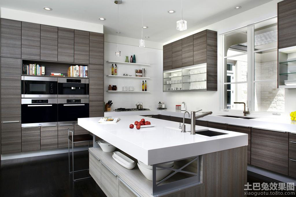 colors for kitchens kitchen cabinets sizes 岛式厨房_土巴兔装修效果图