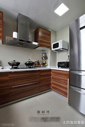 stainless steel kitchen faucets yellow and gray curtains 厨房装修效果图大全_厨房设计效果图_土巴兔厨房效果图片