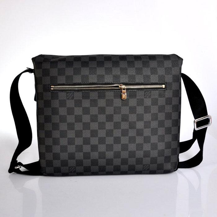 「圖」L男V包 N51211黑格 單肩斜跨包包 時尚休閑男包 包包批發圖片1-馬可波羅網