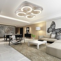 48W Warmwei LED Deckenleuchte Wandlampe Wohnzimmer Bro ...