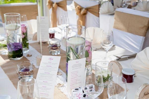 Hochzeitsdeko Tischdeko Blumenkrbchen Vintage Spitze