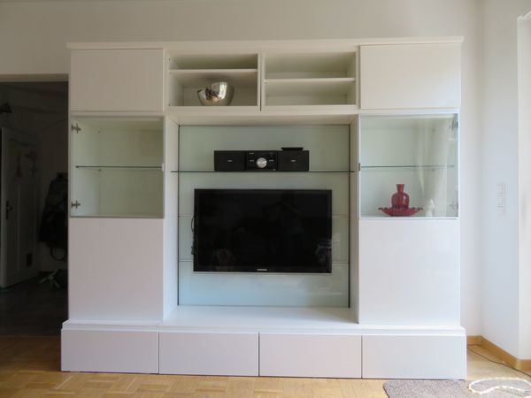 WohnwandTVWand wei IKEA in Landau  Wohnzimmerschrnke Anbauwnde kaufen und verkaufen
