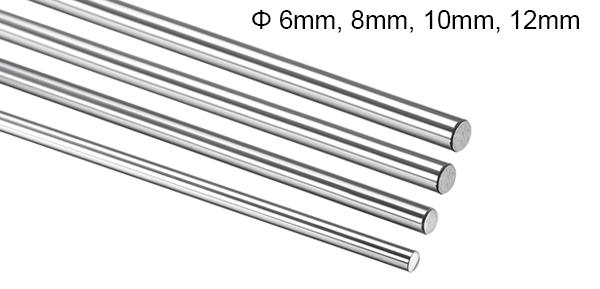 200-600mm 6-12mm CNC 3D Printer Axis Chromed Smooth Rod Steel Linear Rail Shaft