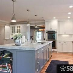 Large Kitchen Pantry Stools With Back 简欧风格大厨房装修图欣赏 58装修效果图