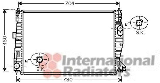 Radiateur voor de Alfa Romeo 159 (939AX) 1.9 JTDm