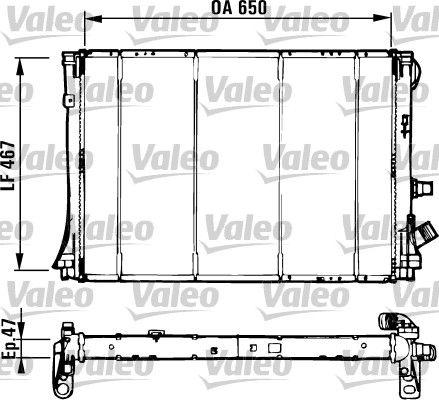 Radiateur voor de Renault Espace (JE) 2.2 dT 12_V