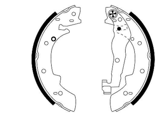 Remschoenen set voor de BMW 3 serie (E30/2) (E30/4) 316i