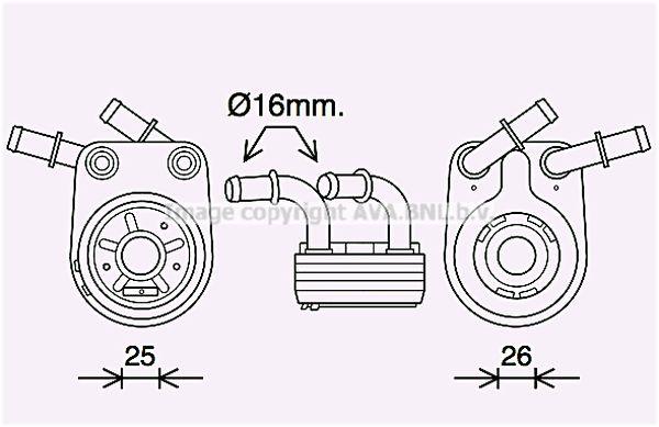 Oliekoeler voor de Alfa Romeo 147 (937) 1.9 JTD