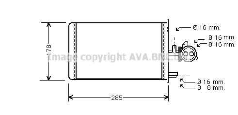 Kachelradiateur voor de Fiat Ducato (290) 1.9 D