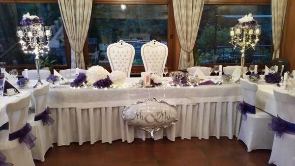 Hochzeitsdeko Hochzeitsservice Kerzenleuchter Stuhlhussen