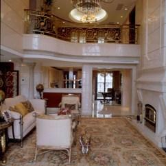 Modern Kitchen Rugs Cabinets Diy 别墅室内挑空客厅地毯装修效果图 – 设计本装修效果图