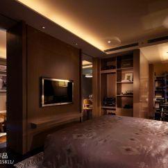 Kitchen Tile Floor Ikea Cabinets 银亿徐汇酩悦酒店式公寓现代卧室隔断装修效果图 – 设计本装修效果图