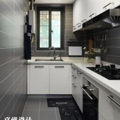 Small Space Kitchen Hanging Lights 小空间北欧风格厨房设计图 设计本装修效果图