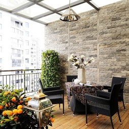 brick effect kitchen wall tiles reclaimed table 【阳台墙砖装修效果图】 - 设计本