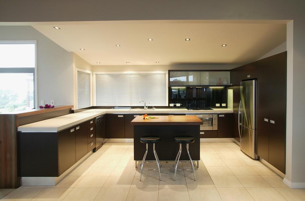 kitchen cabinet desk units copper items 现代厨房设计效果图_土巴兔装修效果图