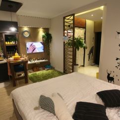 Kitchen Ikea White Bench 15平米超小公寓设计效果图_土巴兔装修效果图