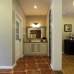 Kitchen Window Coverings Ideas For Small Kitchens Galley 美式家庭室内地板砖装修图片_土巴兔装修效果图