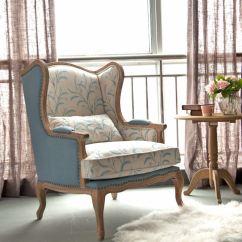 Gray Kitchen Chairs Faucet Pull Out Sprayer 欧式田园风格单人沙发图片_土巴兔装修效果图