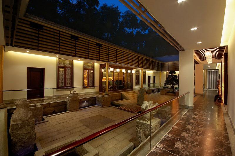 curtains kitchen beige paint colors for 四合院酒店设计天井景观图片_土巴兔装修效果图
