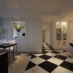 Mosaic Kitchen Tile Hgtv Makeover 简约客厅过道黑白瓷砖装修效果图_土巴兔装修效果图