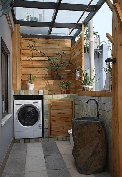 kitchen crocks update your cabinets 生活阳台洗衣机装修效果图_土巴兔装修效果图