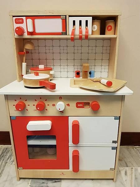 wood kitchen playsets light fixtures 儿子的礼物 木乐地muledy的红白木制厨房玩具组 雪花新闻