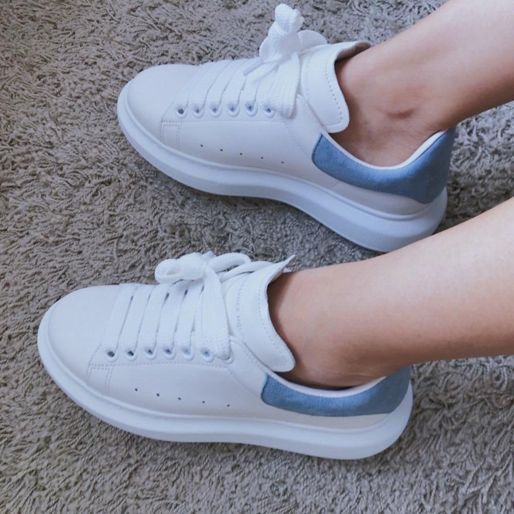 MCQ 麥昆小白鞋 爆款 霧霾藍 女款增高運動鞋_意大利-洋碼頭