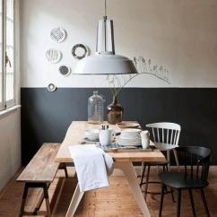Kitchen Table Set With Bench Round Tables 餐桌椅搭配指南 来自山川湖海 也愿投身厨房与爱 知乎 你看这对黑白温莎椅与对面的实木长凳就能完美共生 且长椅的设置非常灵活 万一家里多来了一位客人 也不至于坐不下